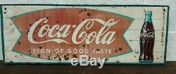 Vintage 1960, S Coke Coca Cola Tin Sign
