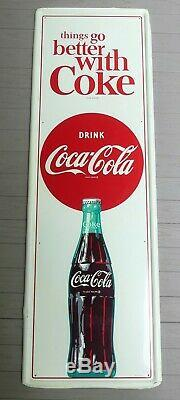 Vintage 1960's Coca-Cola tin Things Go Better with Coke sign