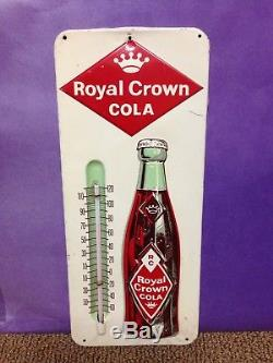 Vintage 1960s Royal Crown Cola RC Thermometer tin sign