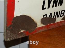 Vintage 1966 Remington Du Pont Chainsaw Bainbridge, NY Tin Sign