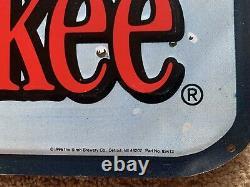 Vintage 1996 Old Milwaukee Beer Bass Fishing Tin Metal Sign (24 x 21) NOS