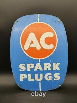 Vintage AC Spark Plugs Garage Sign Tin Automobilia Collectable Motoring Advert