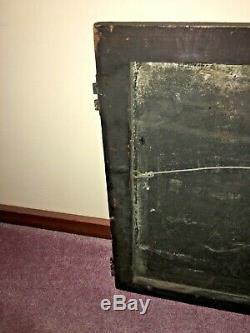 Vintage Adams House Hotel Handpainted Tin Sign -(36 X 24 X 1)- Wood Frame