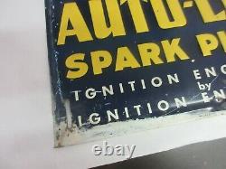 Vintage Advertising Autolite Sparkplug Tin Store Automobilia Sign 664-x