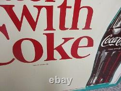 Vintage Advertising Coke Coca Cola Soda Tin Sign Soda Fountain Store M-430