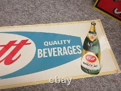 Vintage Advertising Cott Ginger Ale Tin Store Sign Display 859-s