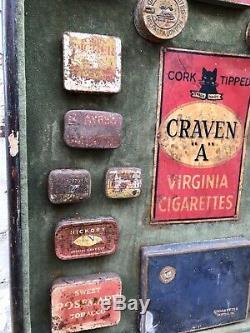 Vintage Advertising Display Sign Tobacco Cigarettes Tins Signage Retro