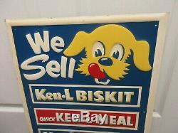 Vintage Advertising Ken-l-ration Tin Sign Store Display Excellent M-42