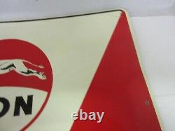 Vintage Advertising Lion Monsanto Gas Tin Sign Great Condition Rare Brand M-521