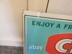 Vintage Advertising Orange Crush Soda Tin Store Display Sign 814-z
