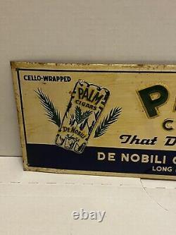 Vintage Advertising Palm Cigar Tobacco Tin Sign