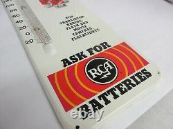 Vintage Advertising Rca Batteries Store Display Tin Thermometer 867-q