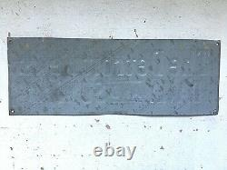 Vintage Advertising The Detroit News Metal Tin Newspaper Enamel Sign Michigan