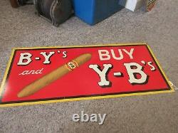 Vintage Advertising Tin Sign By's Yb's Cigar Store Display Sign 196-x