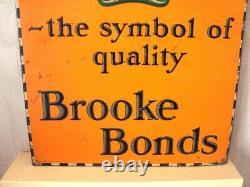 Vintage Advertising Tin Sign EDGLETS TEA BROOKE BONDS Barlow & Sons London