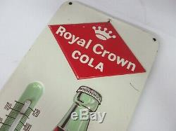 Vintage Advertsing R. C. Cola Royal Crown Soda Tin Thermometer 40-q