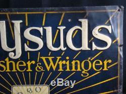 Vintage Antique Advertising Tin Sign Sunnysud Electric Washing Machine Appliance