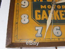 Vintage Antique McCord Motor Gaskets Litho Tin Advertising Clock Complete