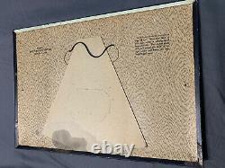 Vintage Antique Reflective Dandro Solvent Tin Over Cardboard Original Easel Sign