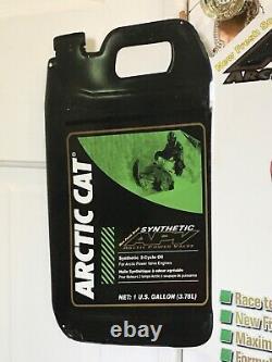 Vintage Arctic Cat Snowmobile Oil Gas Metal Advertising Graphics Sign Tin Metal