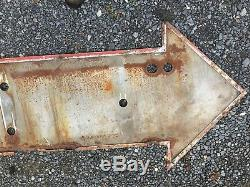 Vintage Arrow Ex Neon Parking Tin Sign Shipping Available