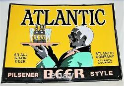 Vintage Atlantic Beer Tin Sign- Atlantic Company Atlanta, Georgia (circa 1940's)