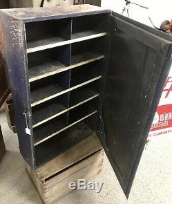 Vintage Auto-Lite Parts, Spark Plug Cabinet, Super Rare, 1930s, Autolite, Tin Sign