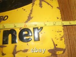 Vintage BADGER BARN CLEANER FARM Tin Metal Advertising SIGN