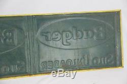 Vintage Badger Silo Unloader Embossed Tin Farm Sign Double