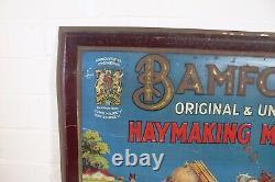 Vintage Bamfords Original & Universal Haymaking Machines Tin Advertising Sign