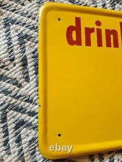 Vintage Bireley's Sign Embossed Tin 1951 soda cola 27.75 x 9.75