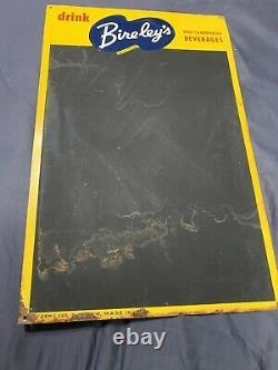 Vintage Bireleys Soda Pop Tin Menu Board Chalk Sign 22 x 14
