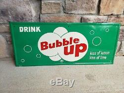 Vintage Bubble Up embossed Tin Soda Pop Gas Station 28 Embossed Metal SignNice