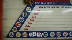 Vintage Bud ice logo classic sign rare hard to find beer tin metal NHL Hockey l1