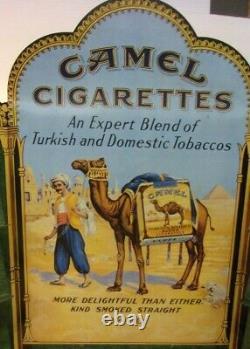 Vintage CAMEL Cigarettes Metal Tin ZIPPO Display 85 Years 23 x 18 x 4