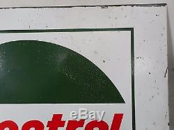 Vintage Castrol Double Sided Tin Sign