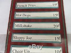 Vintage Cheer Up Soda Advertising Tin Sign Menu Board Original Condition 815-q