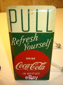 & Vintage Coca Cola Push Pull Door Set Tin Door Signs