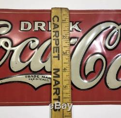 Vintage Coca Cola Sign 1922 Tin Tacker Authentic