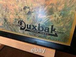 Vintage DUXBAK Hunting Apparel Tin Advertising Sign Watch Video