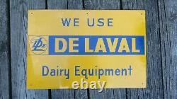 Vintage Delaval Tin Litho Dairy Equipment Sign Cream Separator