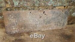 Vintage Diamond Edge Tools Embossed Tin Tacker Advertising Sign