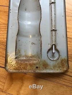 Vintage Drink Bireley's Orange Soda Bottle Tin Metal Thermometer Sign