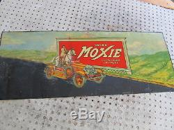 Vintage Drink Moxie Orig, 1935 Tin Sign 33 X 13 One Of The Holy Grails