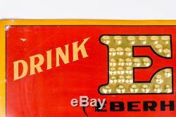Vintage EBERHARD & OBER Pilsener & Lager Beer Pittsburgh Brewing Co. Tin Sign