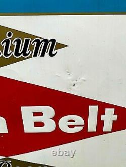 Vintage Early Grain Belt Beer Large Diamond Tin Metal Sign 58X46