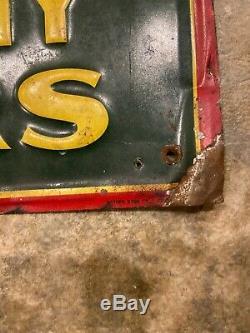 Vintage Embossed SACCO Fertilizer Metal tin Sign