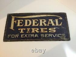 Vintage Federal Tires For Extra Service Tin Sign