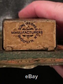 Vintage Garland Stoves Ranges Tin Litho Advertising Match Holder Safe Sign