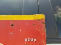 Vintage HENEGAR MOTOR COMPANY CADILLAC Car Dealership Tin Sign 80 x 60 inches
